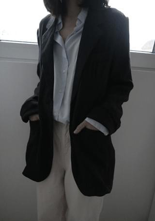 classic over linen jacket