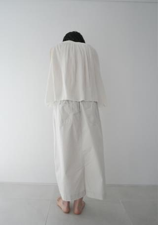 natural washed cotton skirt