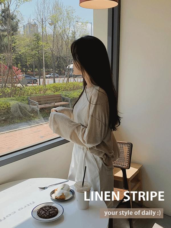 Yeri-fit linen stripe tea