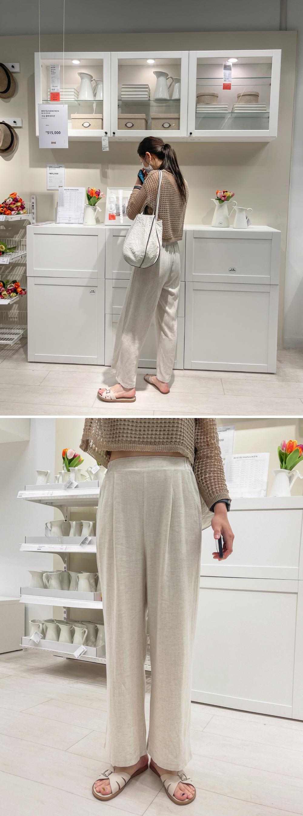 Noni pintuck wide linen pants