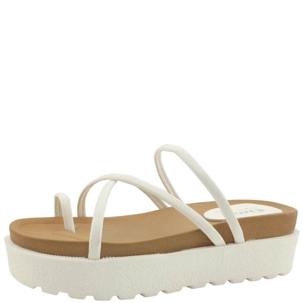 Thick Heel Height Slim Pleated Slippers White