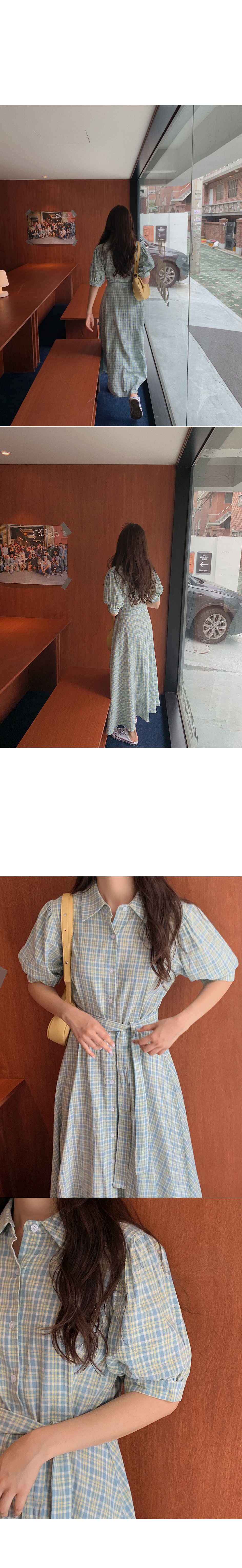 Katsune Check Dress
