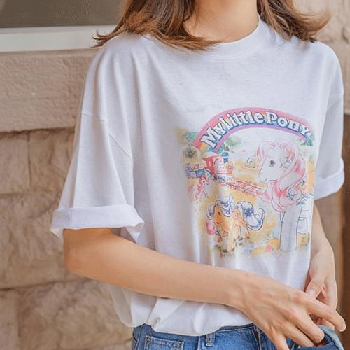 Little Pony Loose-fit Short Sleeve Tee