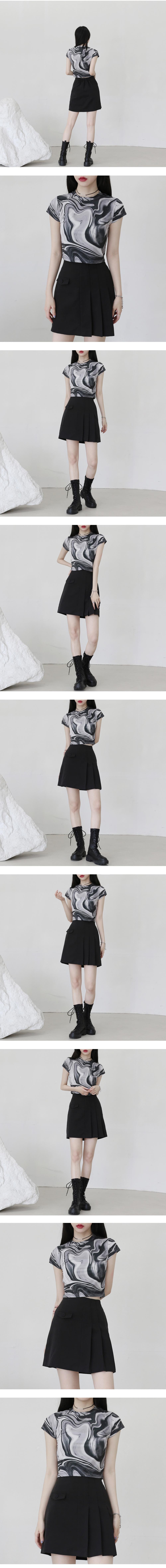 Botte marbling cropped T-shirt