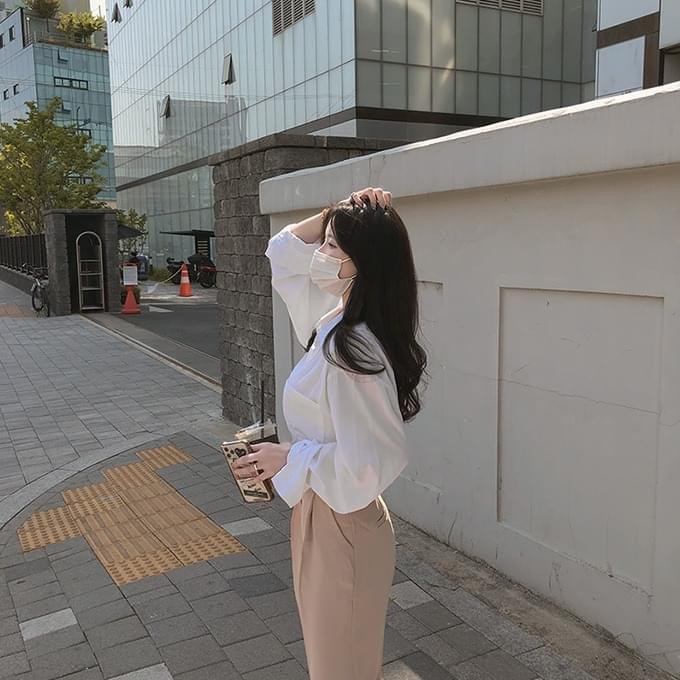 Sophie Tencel long-sleeved shirt blouse