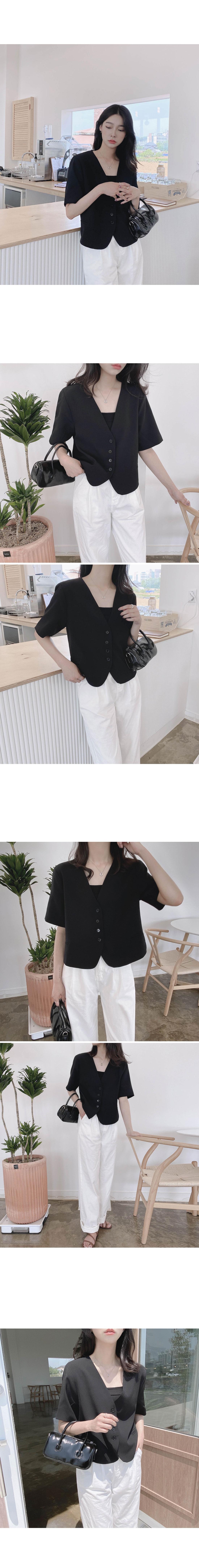 Emma V-Neck Short Sleeve Short Jacket