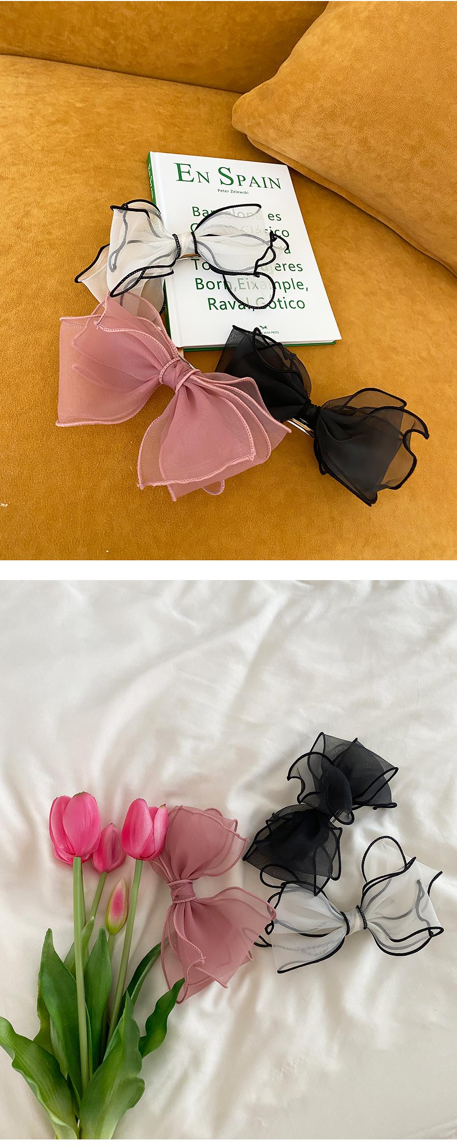 Color matching ribbon pin 3color