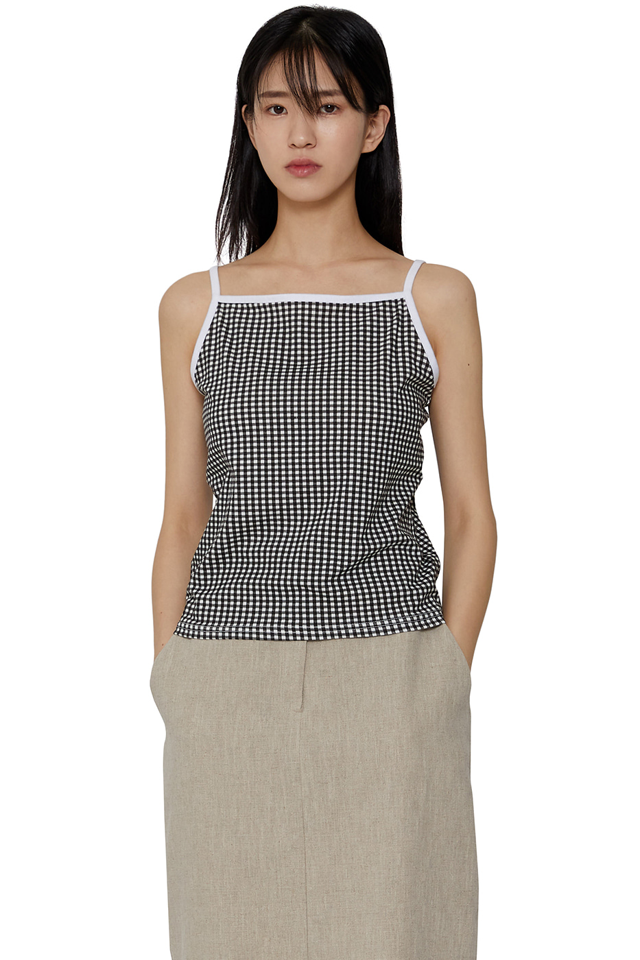 Queens check camisole