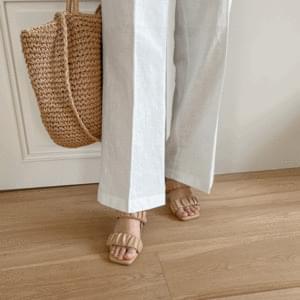Shirred Two-way Sandal Heel 7cm