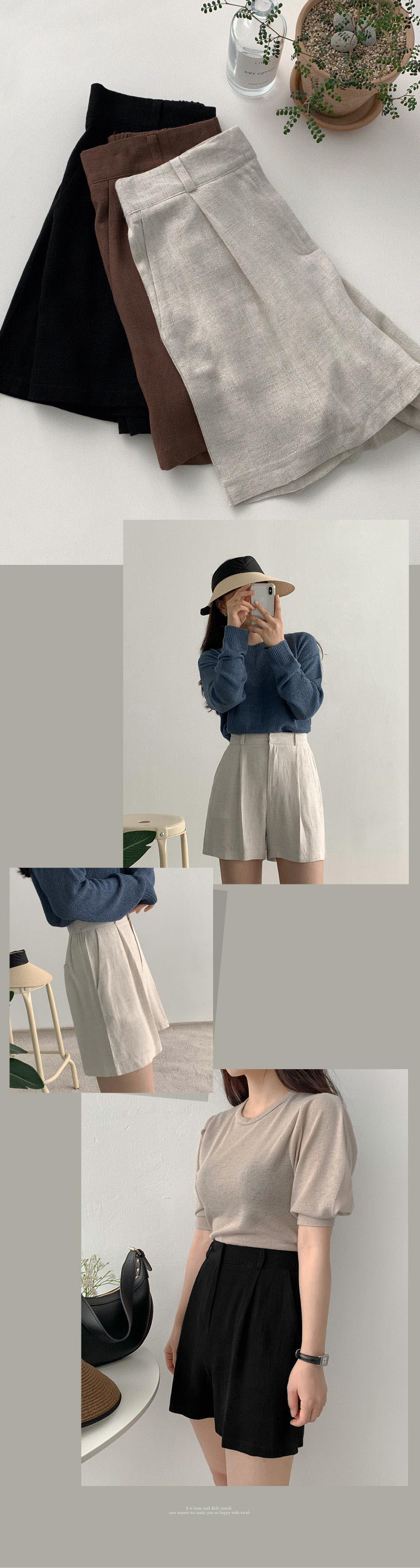 Port Pintuck Hidden Shorts