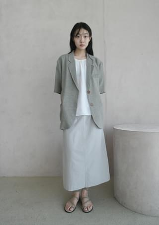 like linen boxy half jacket