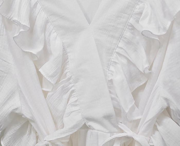 Naki frill lace long Dress