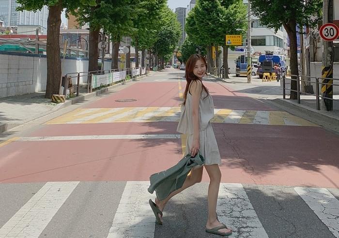 sale) Norma linen shorts
