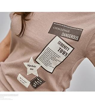 韓國空運 - Multi Printing V-Neck Short Sleeve T-Shirt #109059 短袖上衣