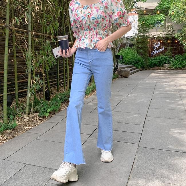 World Slim Fit Two Button Denim Pants