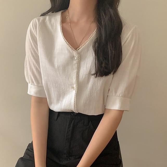 Audrey V-neck blouse