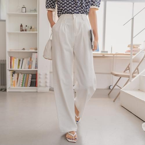 Lucid pintuck cotton pants