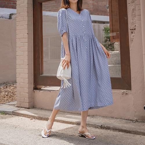 Benjamin Shirring Long Dress
