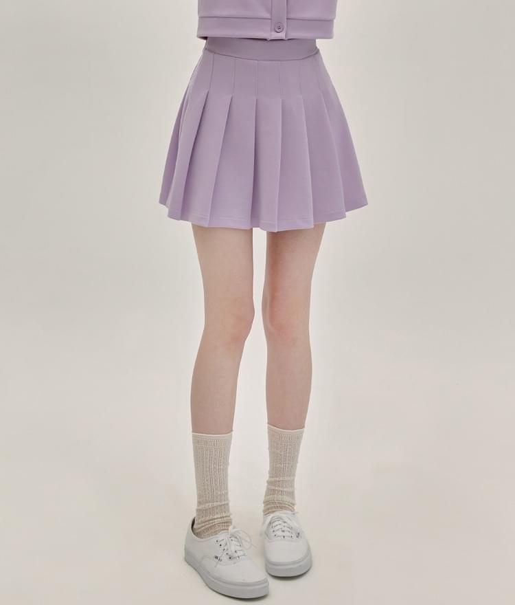 HEART CLUBLight Purple High-Rise Mini Skirt