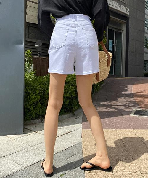 Out pocket high 3-part cotton shorts