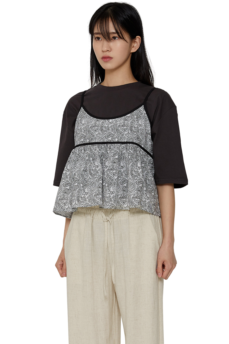Summer Paisley Flare Top