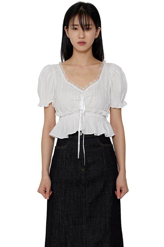 Half awesome cropped blouse