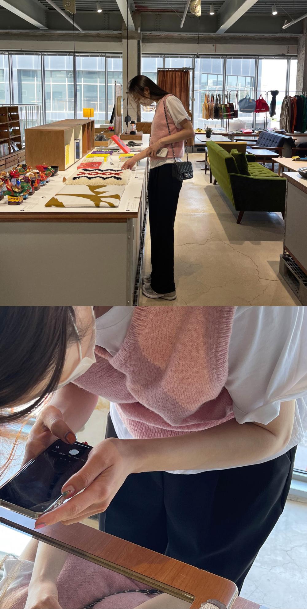 Honey Semi-Crop Knitwear Vest