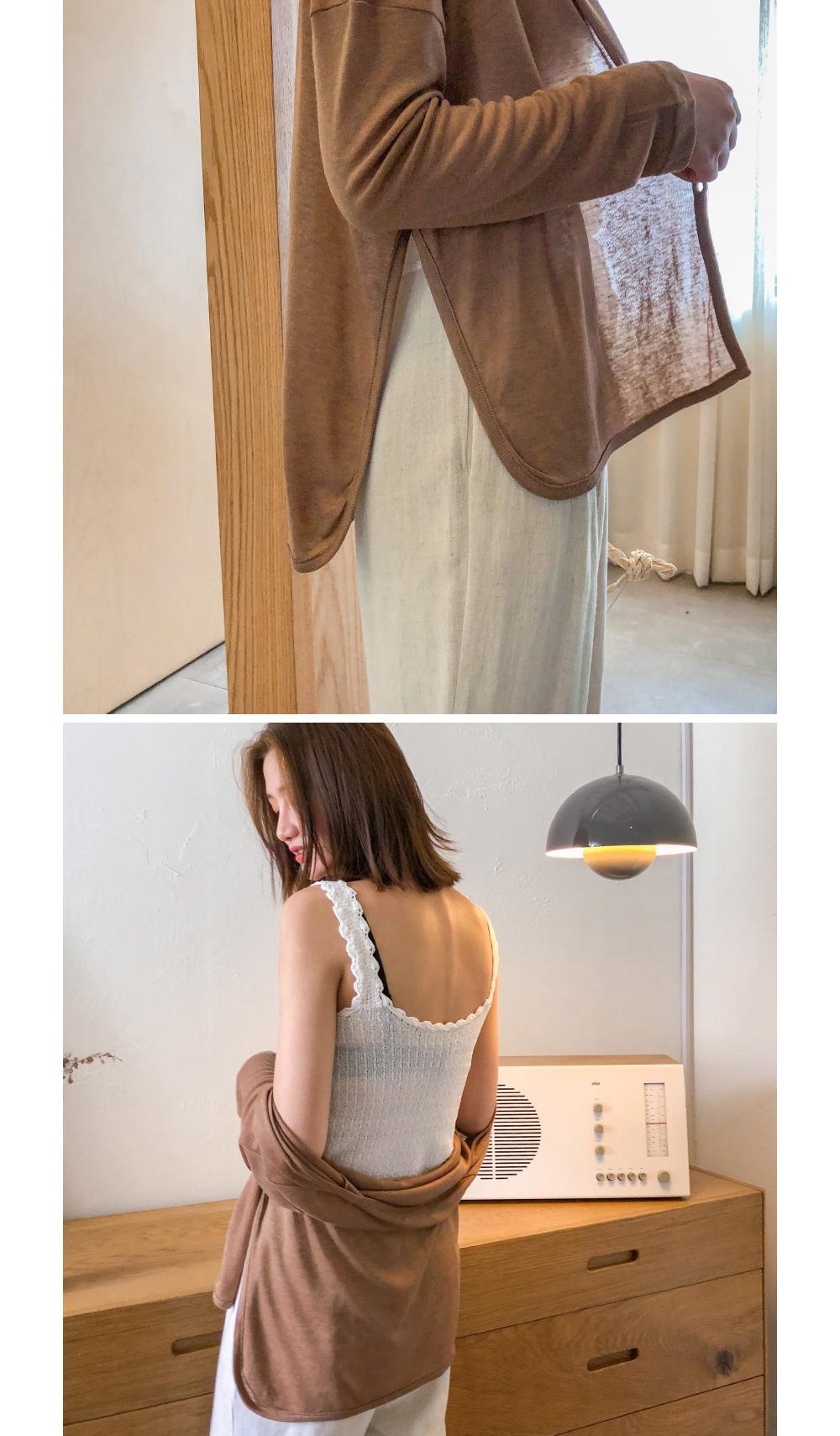 Tencel side button cardigan