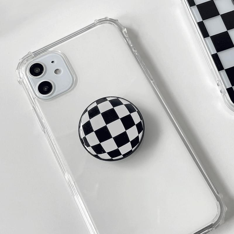 Checkerboard Check Pattern Epoxy Grip Smart Tok