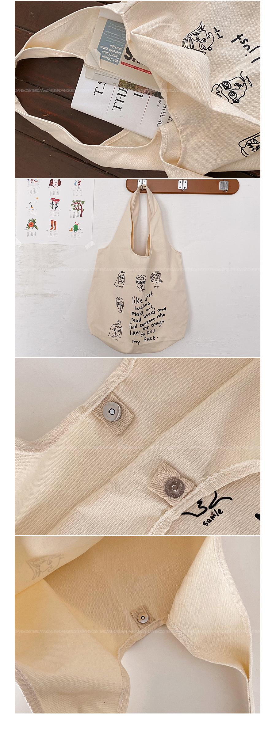 Face Drawing Shoulder Bag