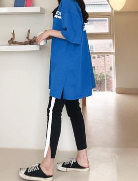 Line slim leggings slimming effect