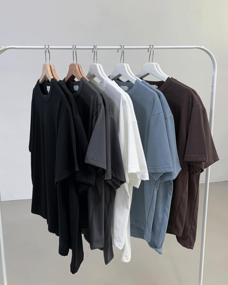 Supima plain short-sleeved T-shirt