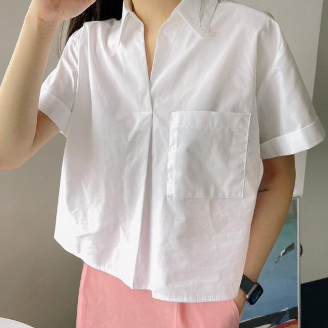 Miyu Semi Crop Open Shirt (Delayed delivery)