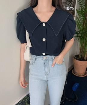 Burst collar blouse