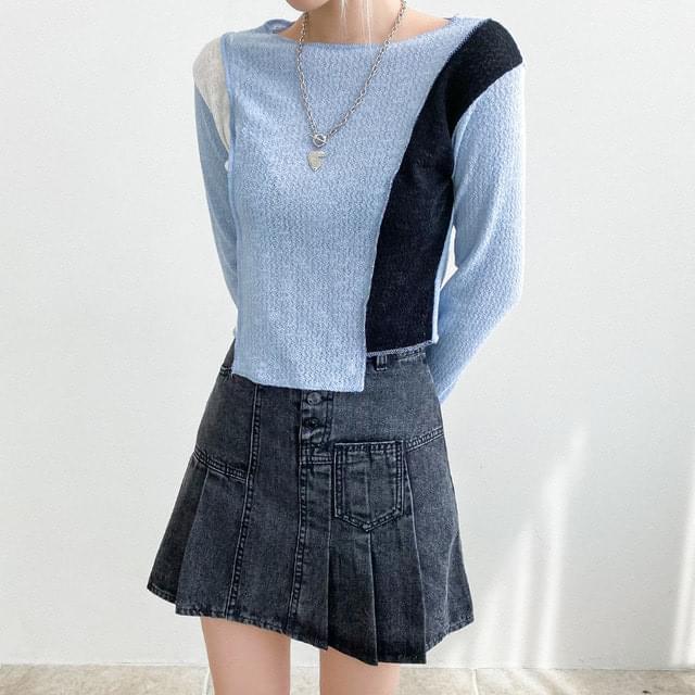 Moisture Unfeeling Color Knitwear T-shirt