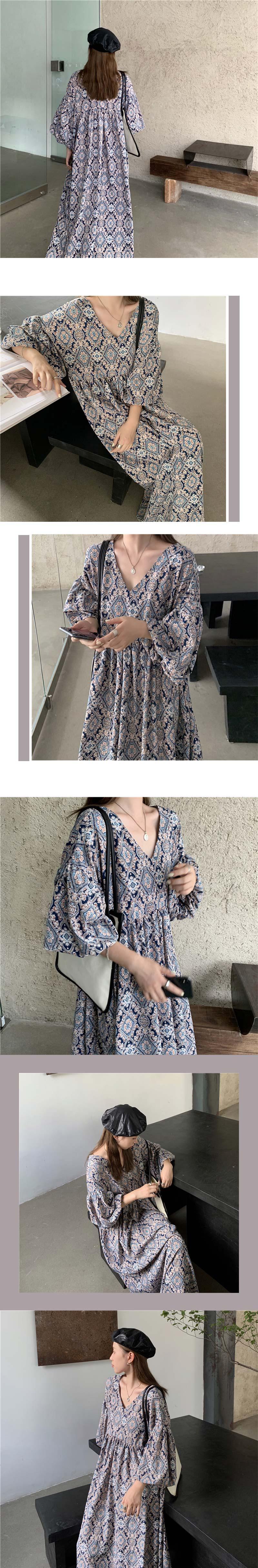 op2100 sunset pattern long dress
