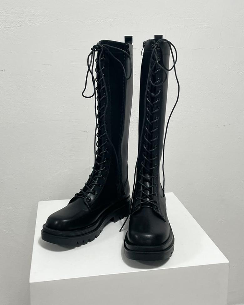 Cali lace-up long walker boots