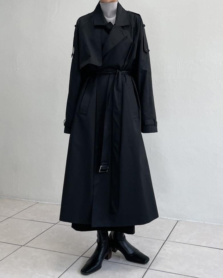 Shino robe overfit long trench coat