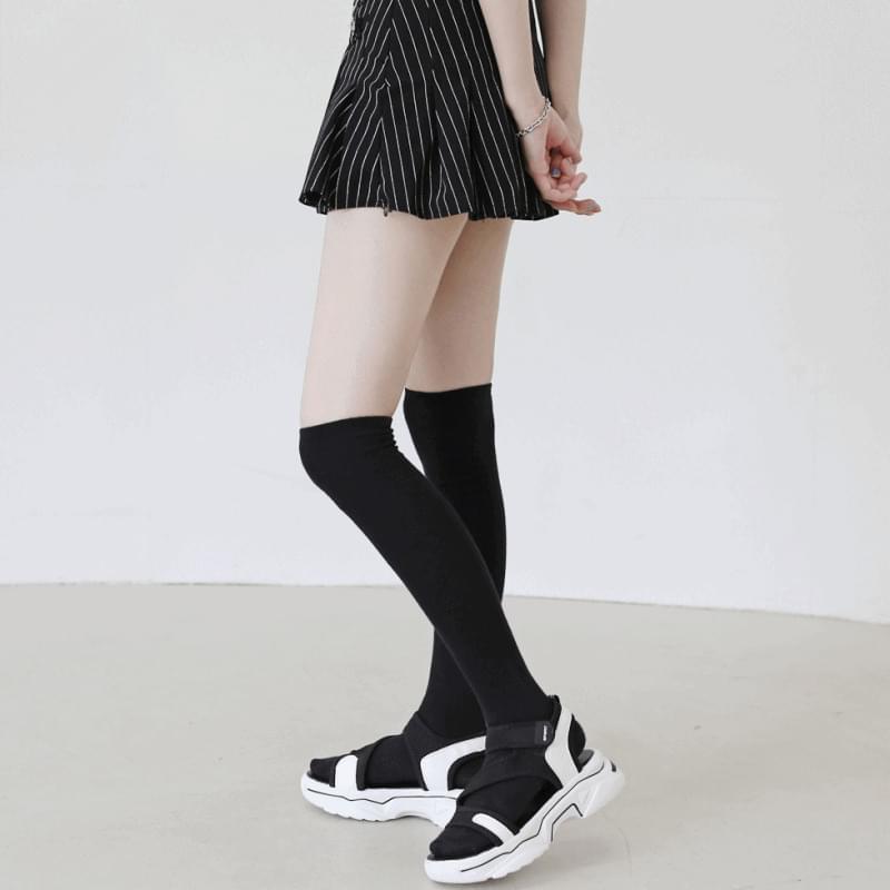 韓國空運 - Straight velcro platform sandals 涼鞋