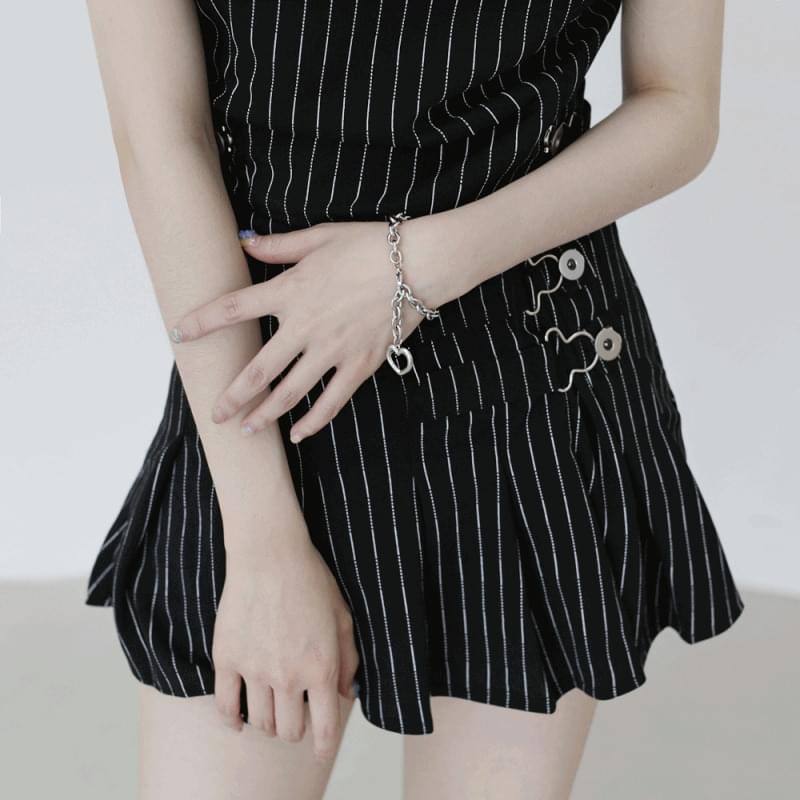 Oz heart chain bracelet