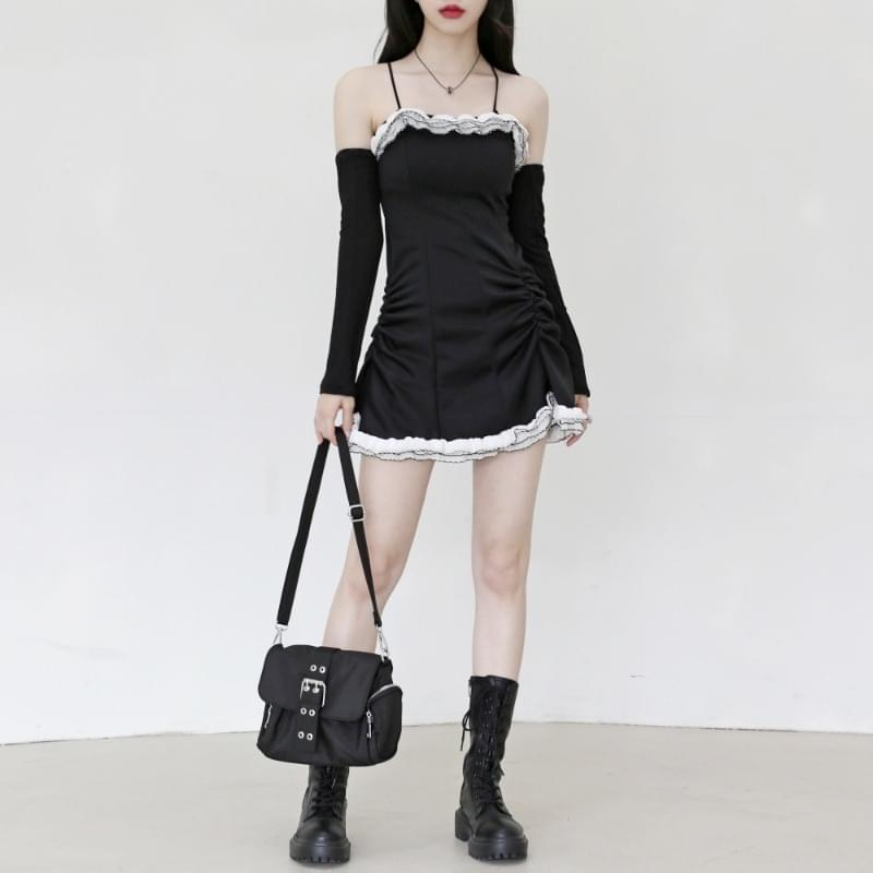 Mode Frill Mini Dress+ Warmer