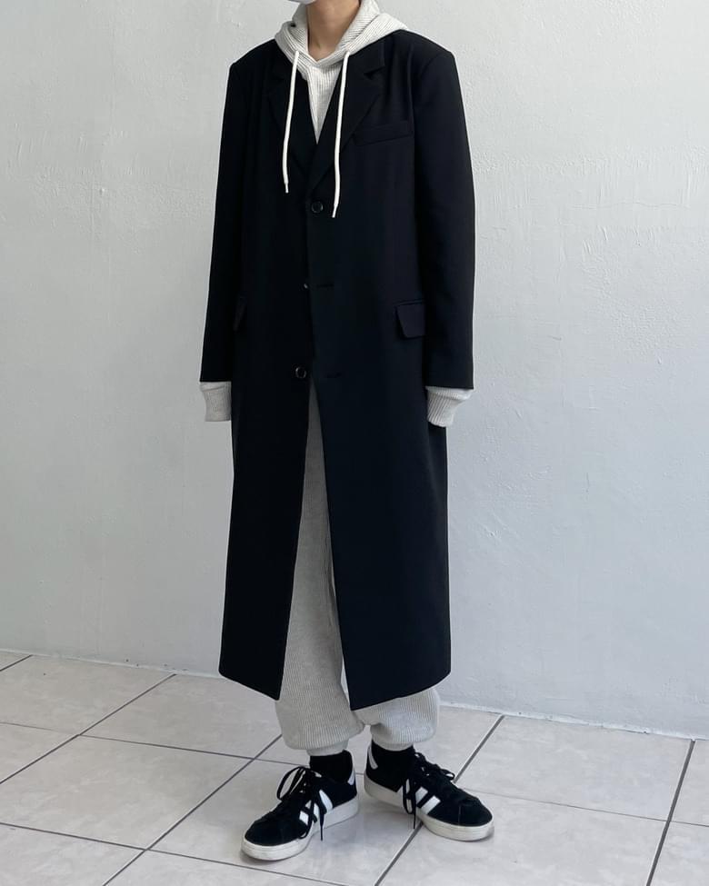 Rio 3-button standard single long coat