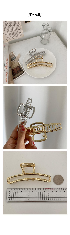 Long Square Shiny Metal Tongs Pin