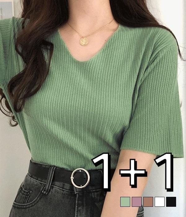 Jeanne Ribbed Locke Knitwear T-shirt 針織衫