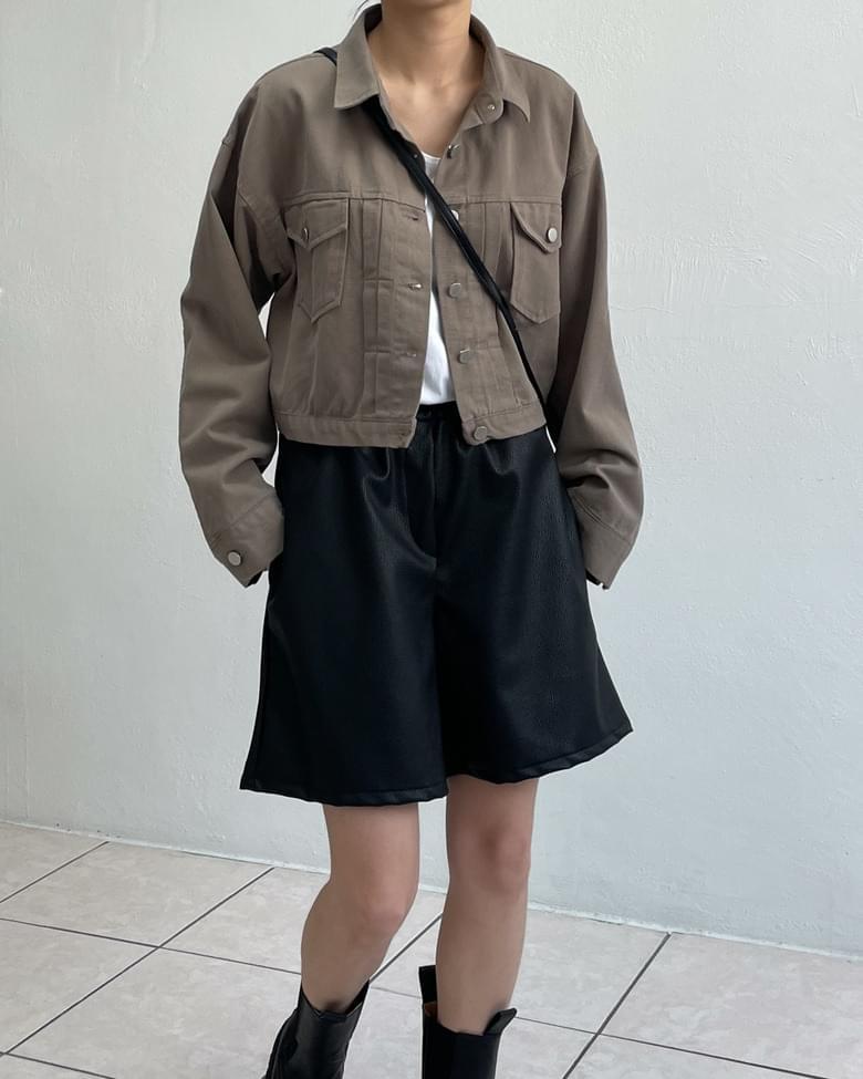 Faded cotton trucker jacket