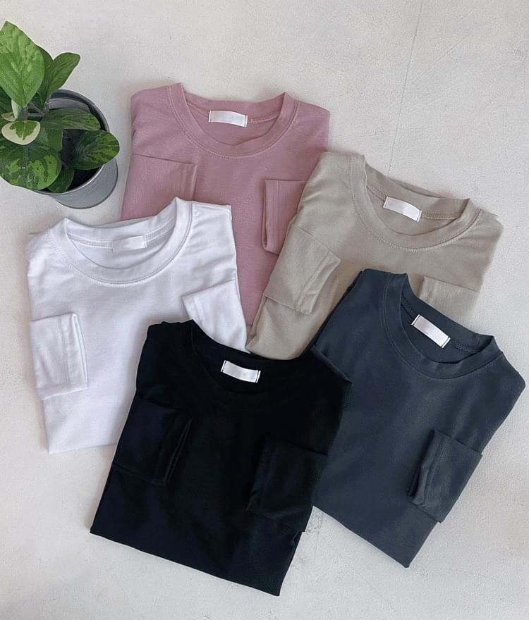 Crew Neck Extended Sleeve T-Shirt