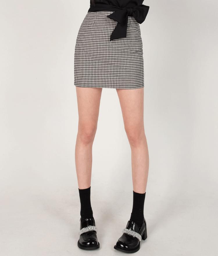 Slim Fit Check Mini Skirt
