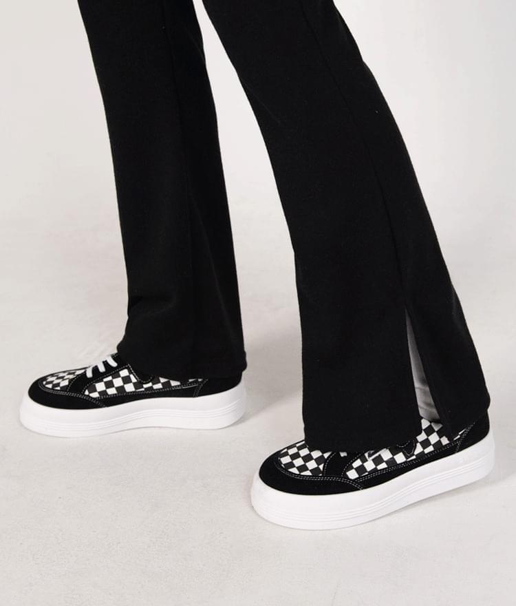 Checkerboard Pattern Platform Sneakers