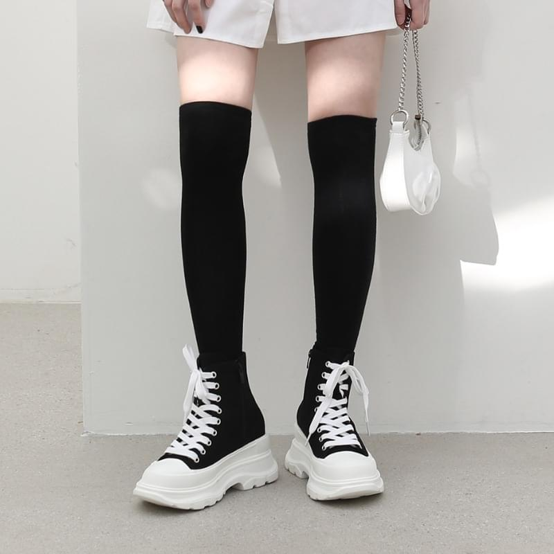 Elsie overall high-top sneakers