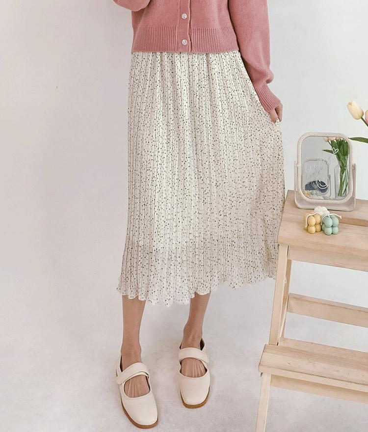 Dotted Midi Skirt